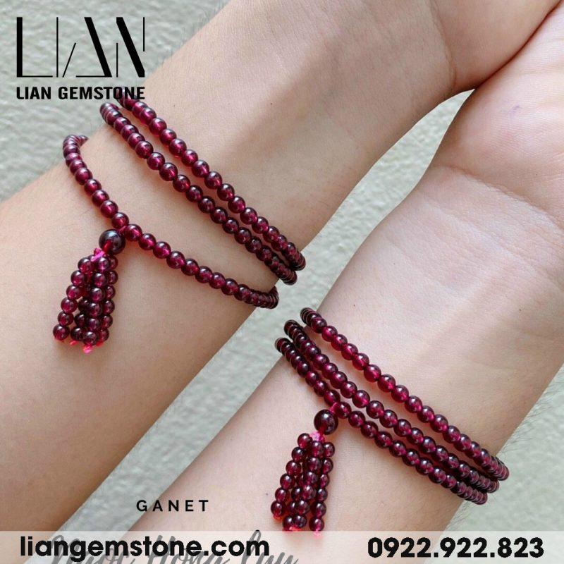 vòng tay ngọc hồng lựu tự nhiên