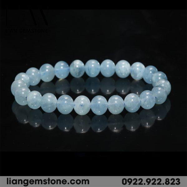vòng tay phong thủy aquamarine
