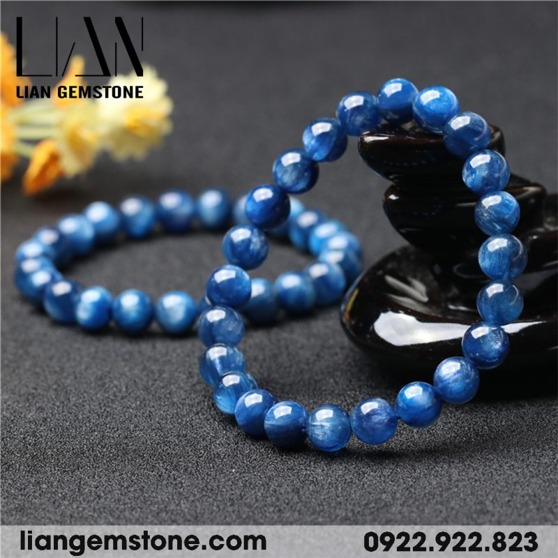 vòng tay phong thủy đá kyanite tự nhiên