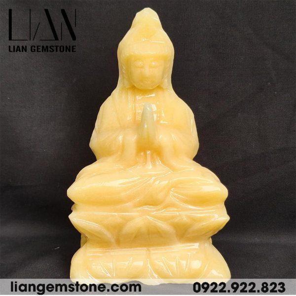 Tượng Phật Quan Âm đá ngọc hoàng long