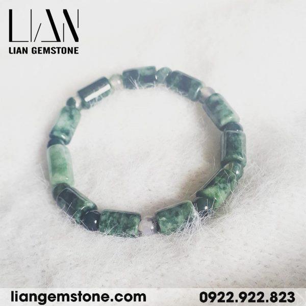 vòng tay đá cẩm thạch đốt trúc